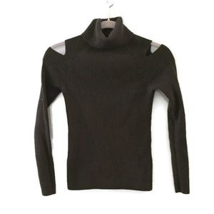 THEORY Jemliss Evian Stretch Cold shoulder sweater